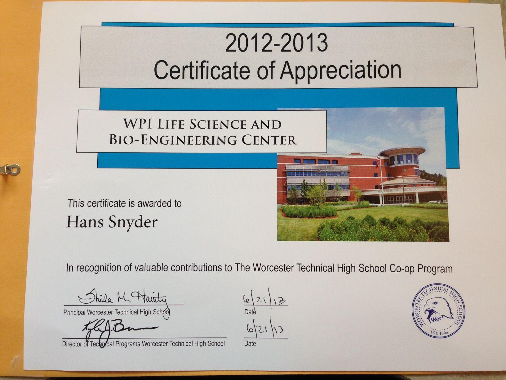 Internship update histopathology service certificate of appreciation yadclub Choice Image